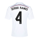 2014-15 Real Madrid Home Shirt (Sergio Ramos 4) - Kids