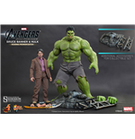 The Avengers Movie Masterpiece Action Figure 2-Pack 1/6 Bruce Banner & Hulk 42 cm