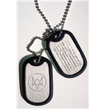 Watch Dogs Dog Tags with ball chain Fox Wanted