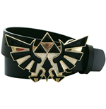 NINTENDO LEGEND OF ZELDA Black Belt with Bird Logo Golden Buckle, Large