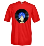 Round necked t-shirt with flex printing - Random!