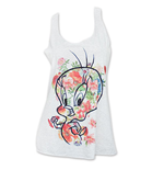 LOONEY TUNES Women's Tweety Flowers Tank Top