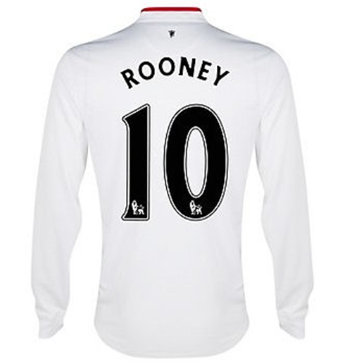2012-13 Man Utd Long Sleeve Away Shirt (Rooney 10)