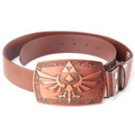 ZELDA Link Platina Buckle and Brown Belt, Large