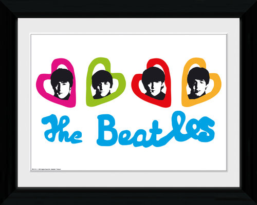 The Beatles Love Hearts Collector Print
