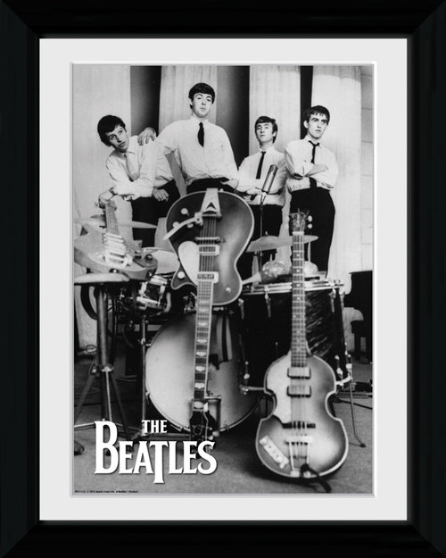 The Beatles Instruments Collector Print