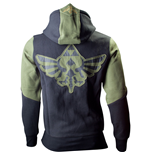 NINTENDO LEGEND OF ZELDA Extra Large Mens Hoodie with Zelda Back Design, Green/Black