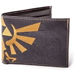 NINTENDO LEGEND OF ZELDA Bi-fold Wallet with Bird Logo, Black