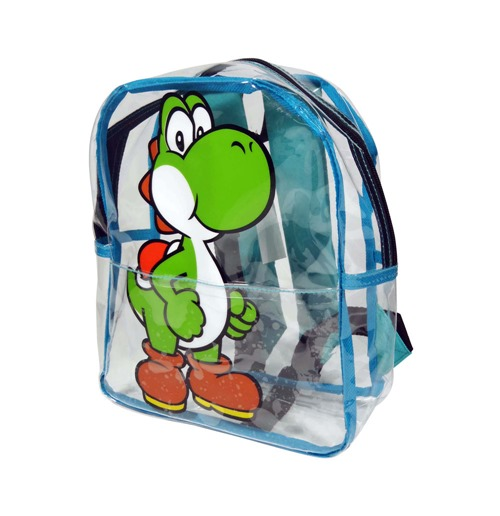 NINTENDO SUPER MARIO BROS. Yoshi Transparent Mini Backpack, Blue/Clear