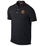 2014-15 Man Utd Nike Authentic League Polo Shirt (Black)