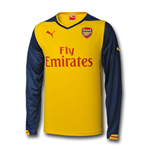2014-2015 Arsenal Puma Away Long Sleeve Shirt