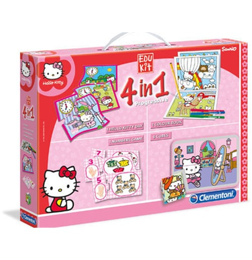 CLEMENTONI Hello Kitty 4in1 Progressive Educational Kit (13776.3 )