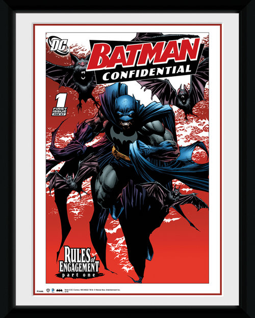 Batman Comic Bats Framed Collector Print