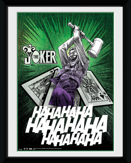 Batman Comic Joker Cards Framed Collector Print