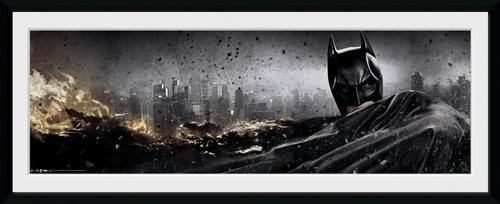 Batman The Dark Knight Rises Action Framed Collector Print
