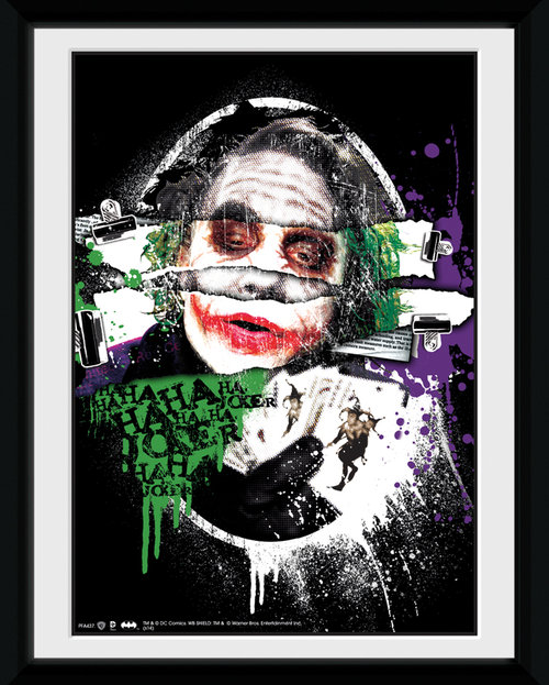 Batman The Dark Knight Rises Joker Torn Framed Collector Print