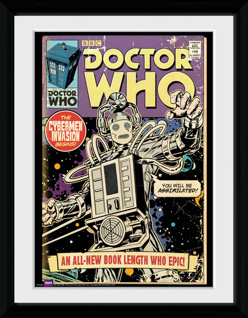 Doctor Who Cybermen Comic Framed Collector Print