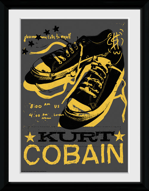 Kurt Cobain Shoes Framed Collector Print