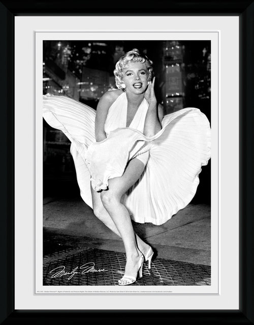 Marilyn Monroe Times Square Framed Collector Print