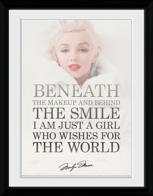 Marilyn Monroe Beneath Framed Collector Print