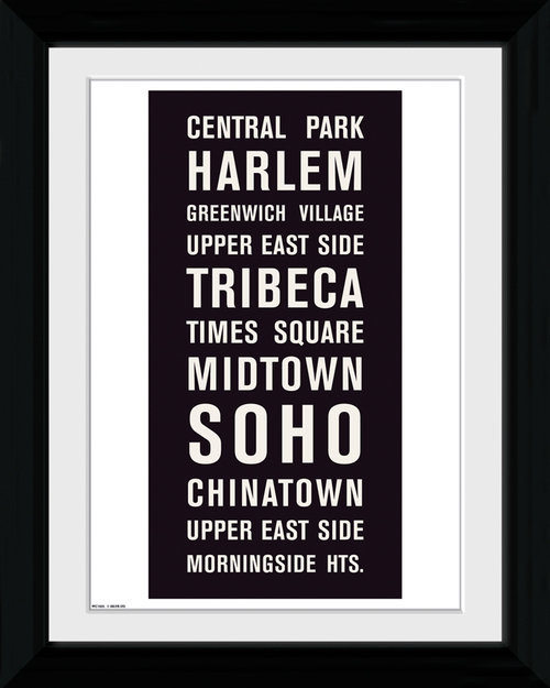 New York Locations Collector Print