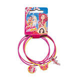 Mia and Me - set with 5 metal bracelets with 3 charms (metal), 7x7 cm