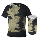 Game of Thrones T-Shirt Westeros Map Deluxe Edition