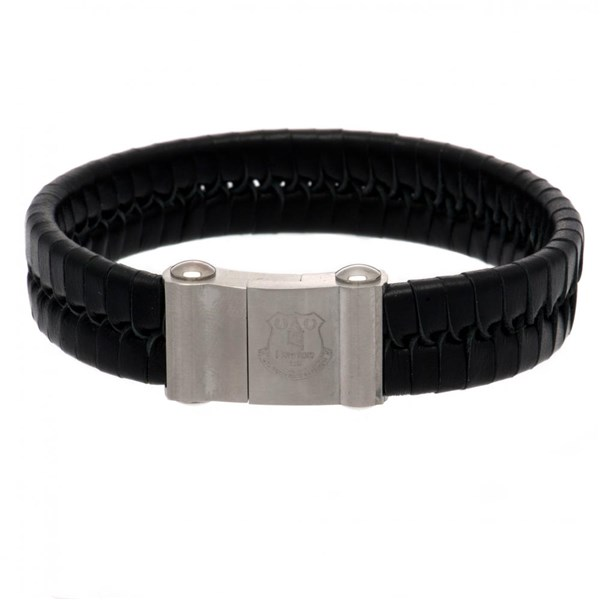 Everton F.C. Single Plait Leather Bracelet