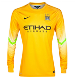 2014-2015 Man City Away Nike Goalkeeper Shirt (Pro Gold)