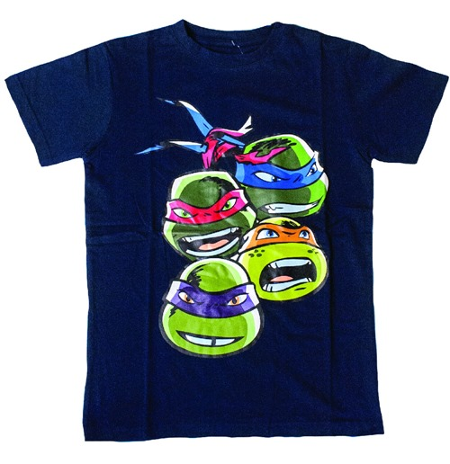 TEENAGE MUTANT NINJA TURTLES (TMNT) Kid's Faces T-Shirt, 152/158, Blue