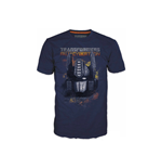 TRANSFORMERS Fall of Cybertron Optimus Fire Large T-Shirt, Blue