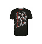 TRANSFORMERS Fall of Cybertron Megatron Rain Small T-Shirt, Black