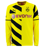 2014-2015 Borussia Dortmund Home Long Sleeve Puma Shirt