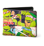 TEENAGE MUTANT NINJA TURTLES (TMNT) Retro Vintage Classic Turtles Bi-fold Wallet, Black