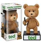 Ted Wacky Wobbler Bobble-Head with Sound Talking Ted 15 cm
