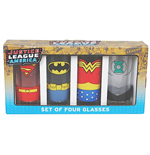 Justice League Juice Glass 4-Pack