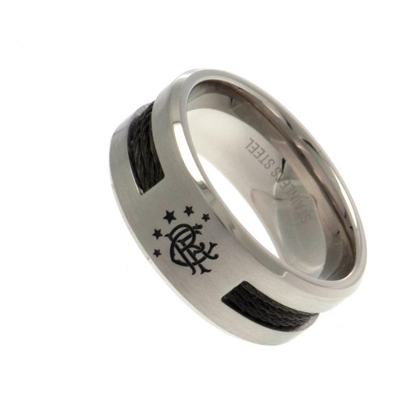 Rangers F.C. Black Inlay Ring Small