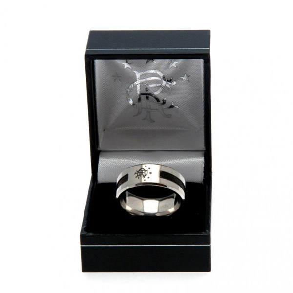 Rangers F.C. Black Inlay Ring Large