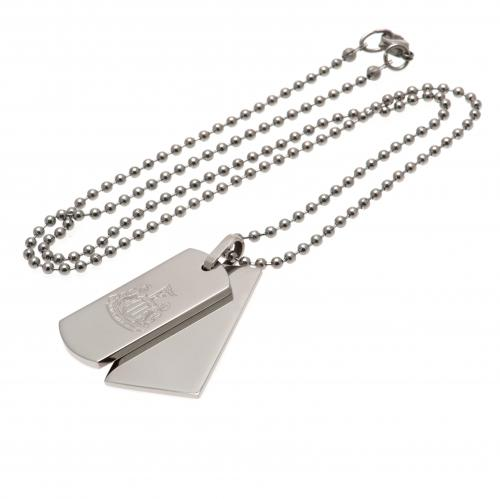 Newcastle United F.C. Double Dog Tag & Chain