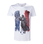 ASSASSIN'S CREED Unity French Tricolour Flag Extra Large T-Shirt, Adult Male, White