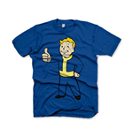 FALLOUT Vault Boys Thumbs Up Large T-Shirt, Blue