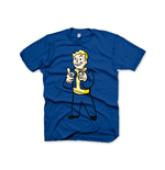 FALLOUT Vault Boys Charisma Large T-Shirt, Blue