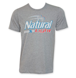 NATURAL LIGHT Grey Beer Logo T-Shirt