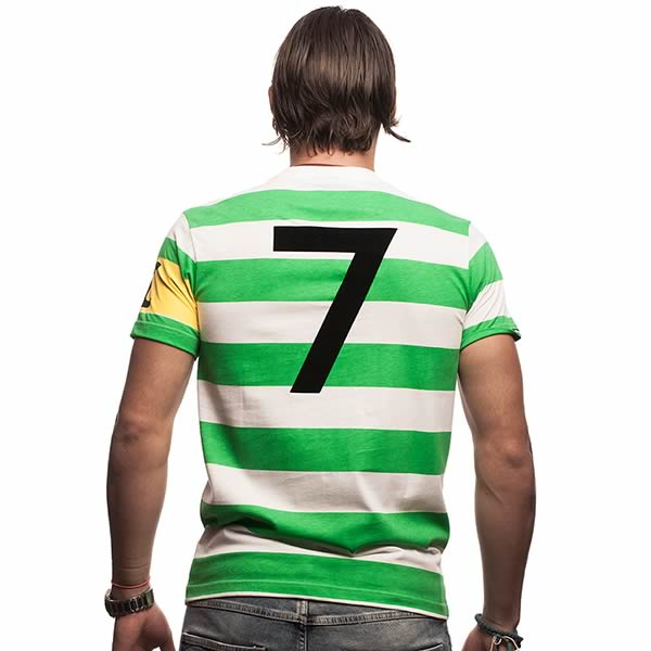 Celtic Captain T-Shirt // Green - White 100% cotton