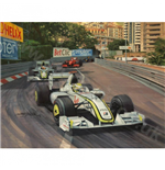 Jenson Button Print Brawn GP Monaco 2009