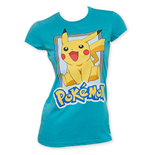 POKEMON Pikachu Women's Blue Jump T-Shirt