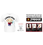 Family Guy T-shirt Ladies Man (zappar FRIENDLY)