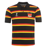 Germany 2014 FIFA Stripe Polo Shirt (Black)