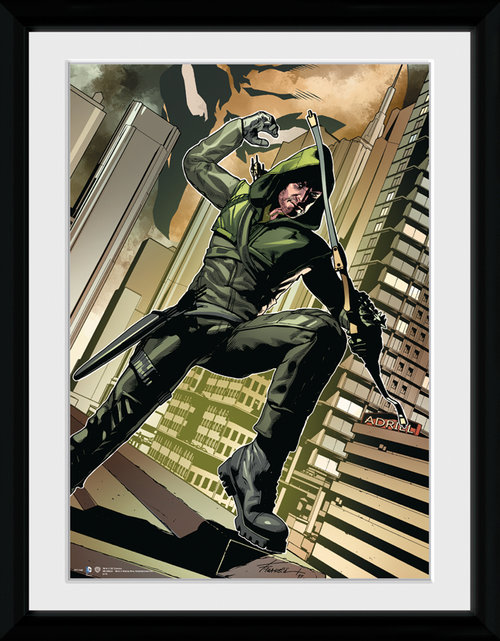 Arrow Cover Green Framed Collector Print