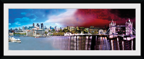 London Day & Night Framed Collector Print